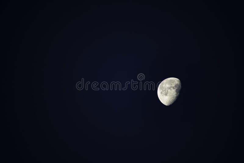 The beauty of Half moon On the night sky stock photo