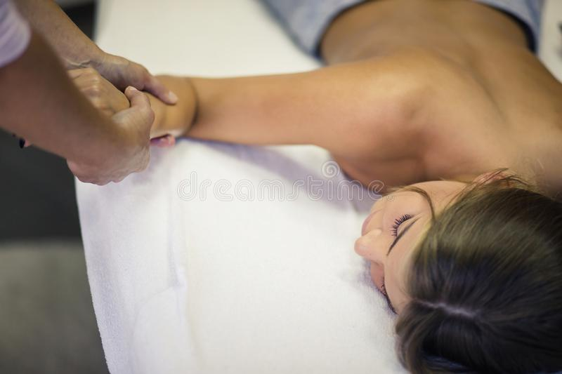 Beauty hand gentle touch. royalty free stock photos