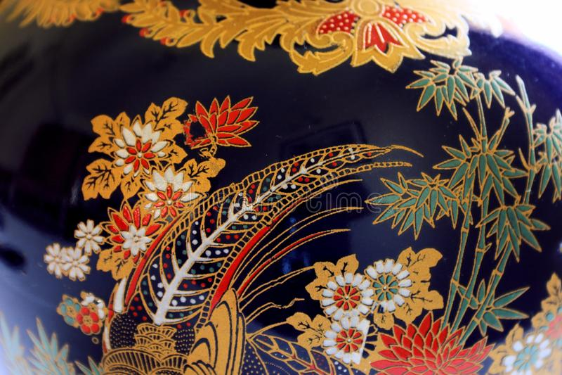 The beauty of handcrafted vase. royalty free stock images