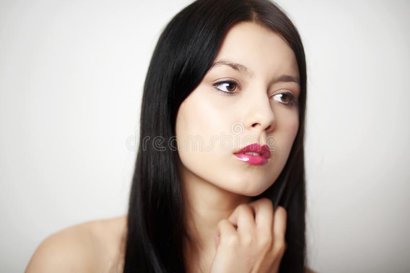 Download Beauty headshot stock photo. Image of face, makeup, female - 25456542