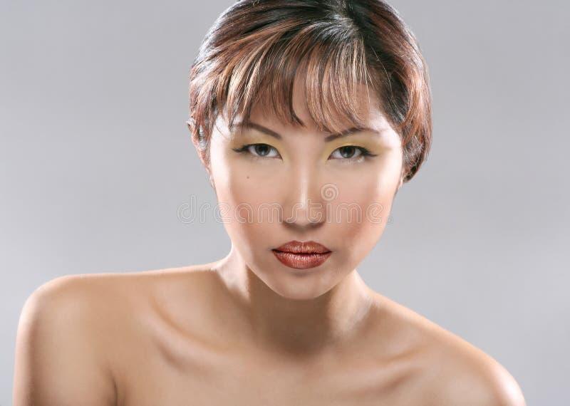 Beauty Headshot Stock Image. Image Of Earings, Bones