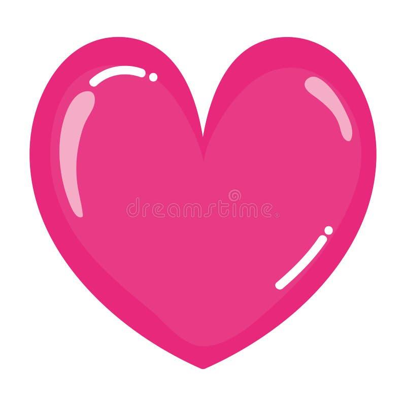 Beauty heart romance symbol style. Vector illustration vector illustration