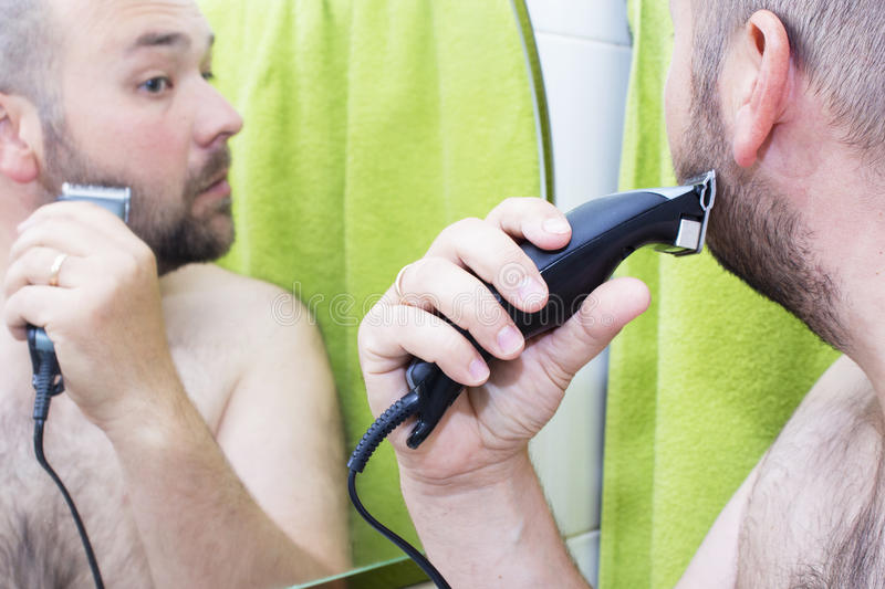 Beauty, hygiene, shaving, grooming and people concept stock photo
