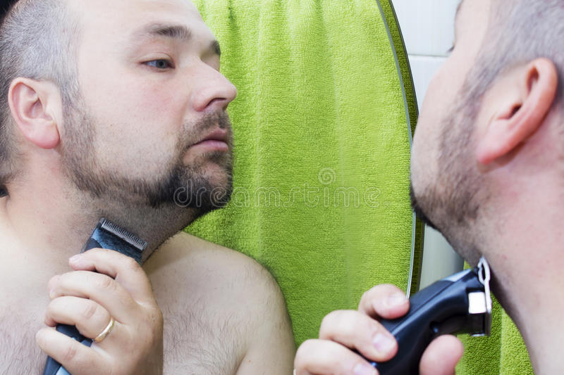 Beauty, hygiene, shaving, grooming and people concept stock image