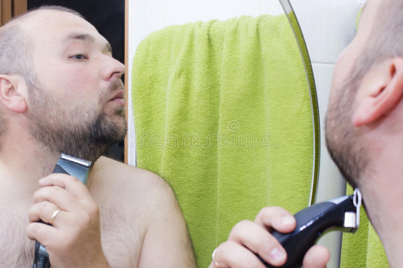 Beauty, hygiene, shaving, grooming and people concept stock photos