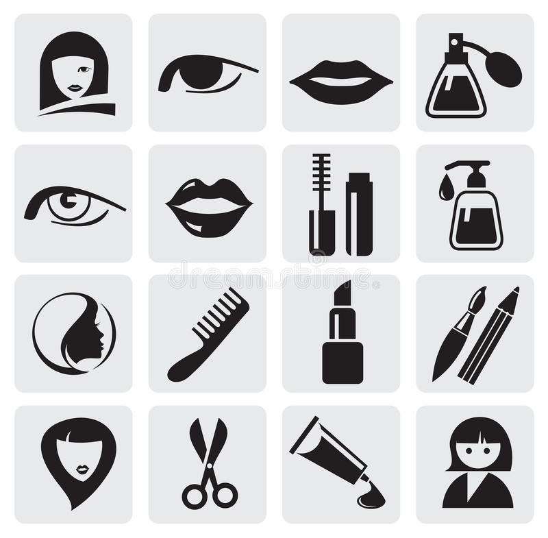 Download Beauty icons stock vector. Image of series, internet - 25547205