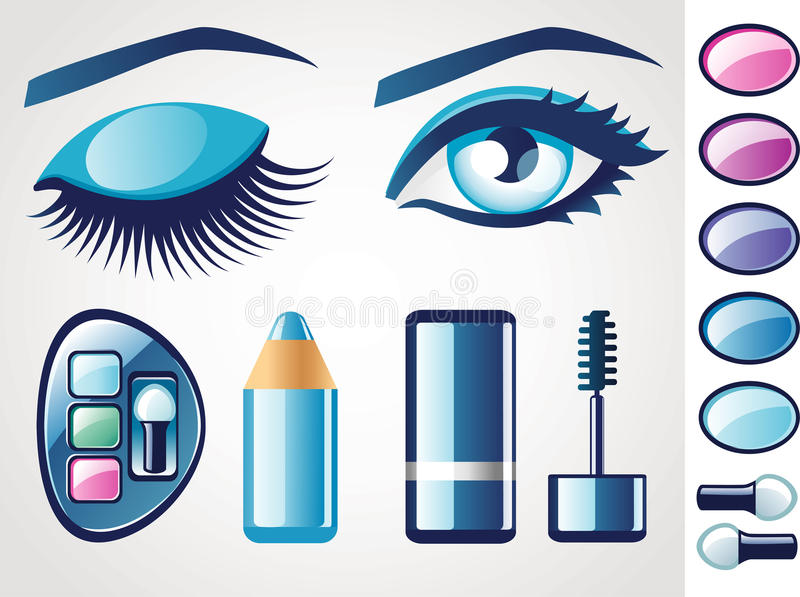 Download Beauty icons (Eye) stock vector. Image of color, decorative - 21372427