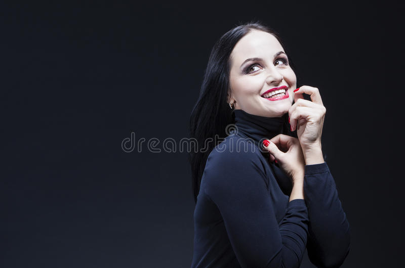 Beauty Ideas. Natural Portrait of Alluring and Sensual Caucasian Woman stock images