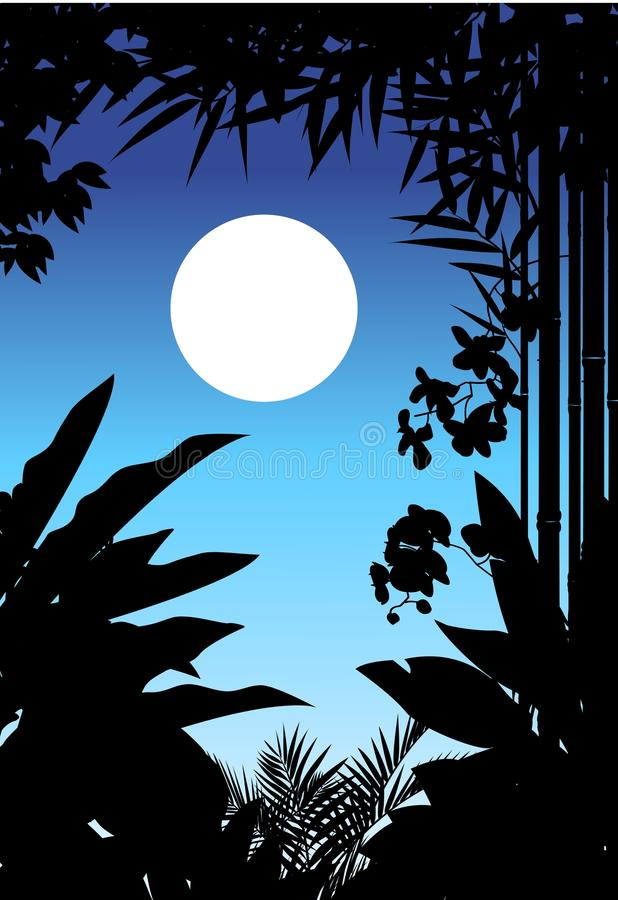 Download Beauty jungle silhouette stock illustration. Image of leaf - 27048491