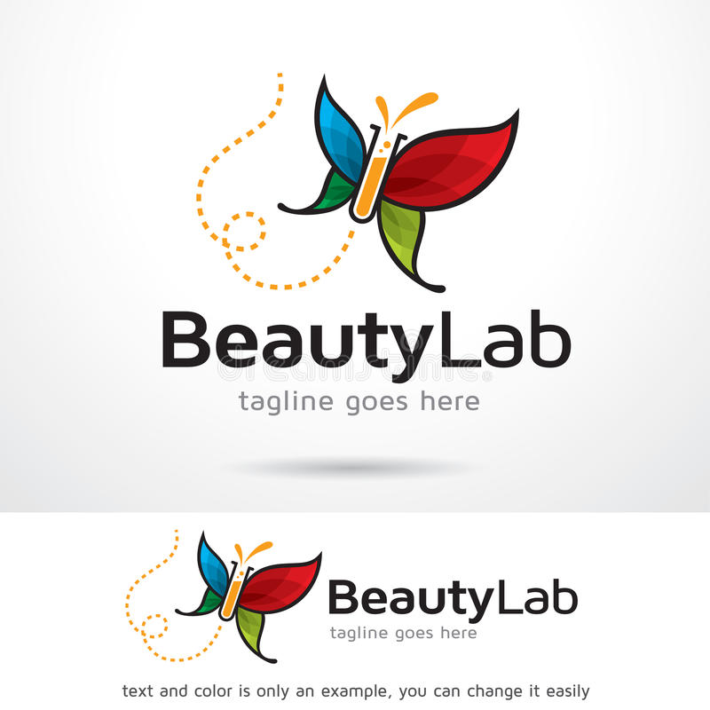 Beauty Lab Logo Template Design Vector. This design suitable for logo or icon. Color and text can be changed easily royalty free illustration