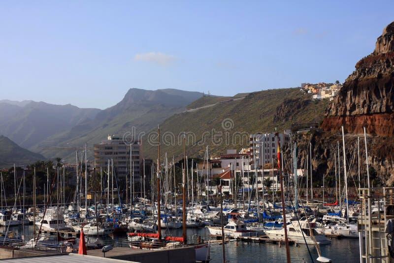 The beauty landscape from la gomera royalty free stock photo
