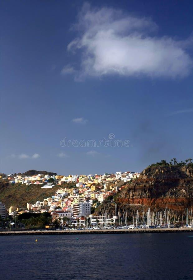 The beauty landscape from la gomera. In Canary Islands, Spain stock photo