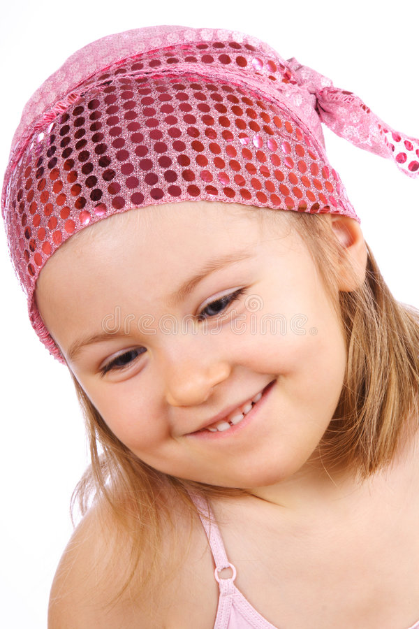 Beauty little girl. stock photo