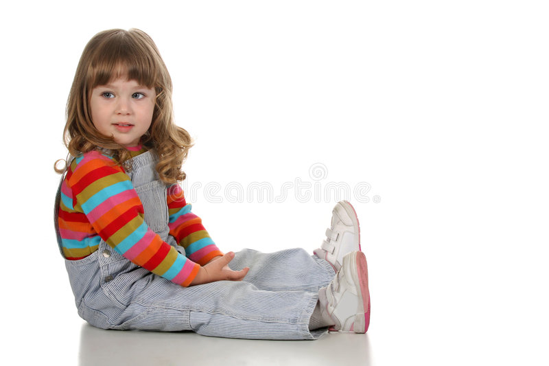 Beauty a little girl stock images
