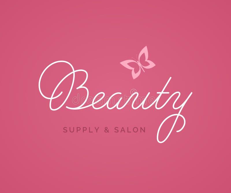 Beauty Salon Logo Vector Lettering. royalty free illustration