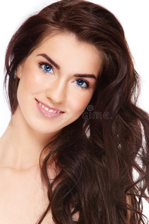 Beauty with long hair royalty free stock images