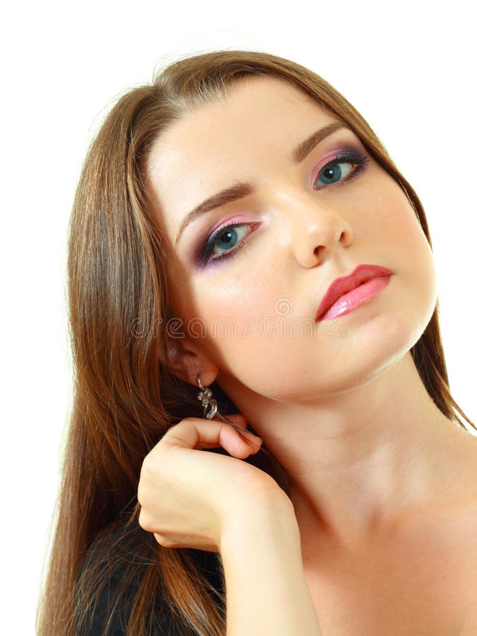 Beauty make up woman portrait royalty free stock image