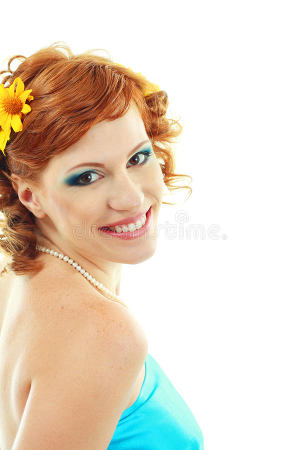 Beauty make up woman portrait royalty free stock photography