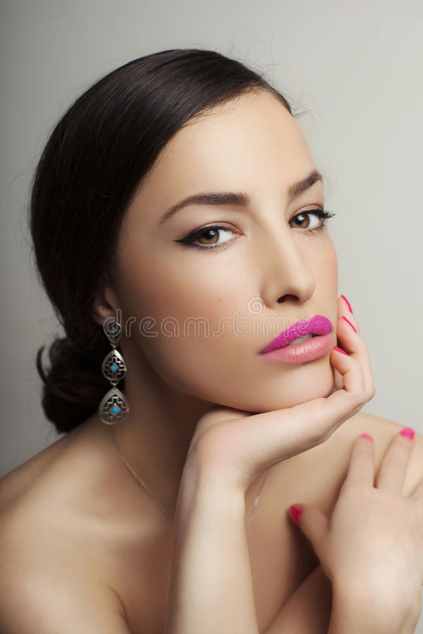 Beauty and makeup stock image