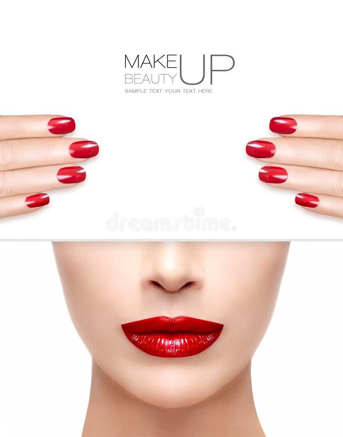 Beauty Makeup And Nail Art Concept Stock Photo - Image of facial ...