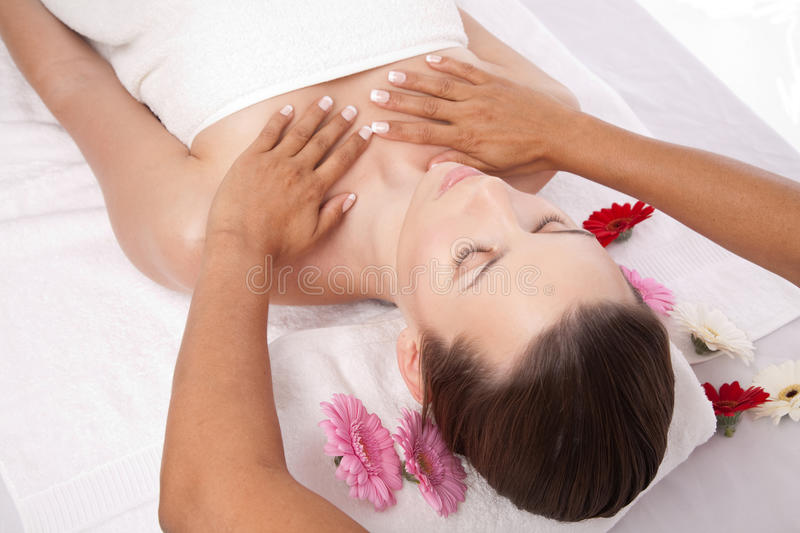 Beauty massage stock photography