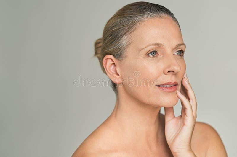 Beauty mature woman stock image