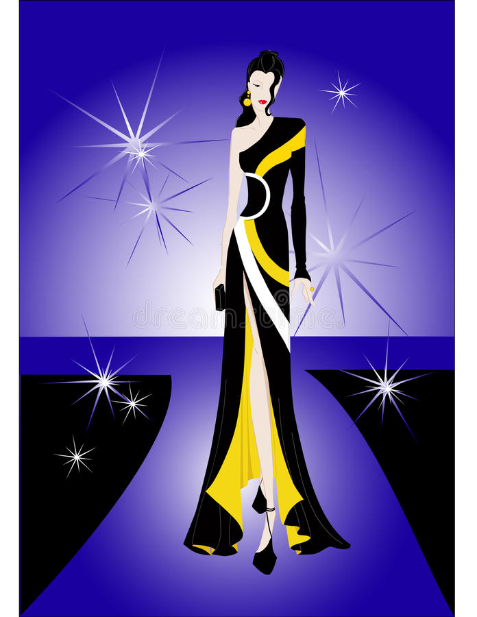 Download Beauty Model In Fashion Show Stock Vector - Image: 9978257