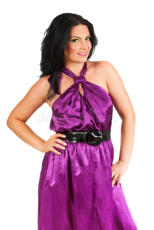 Download Beauty Model In Mauve Dress Stock Photo - Image: 26440206