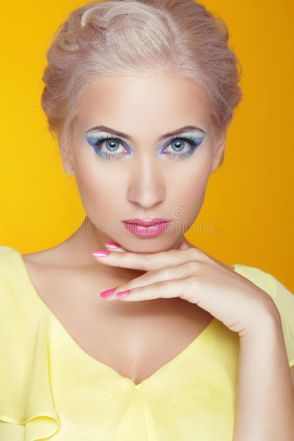 Free Beauty Model Portrait. Makeup. Attractive Young Woman Isolated O Stock Image - 41874781
