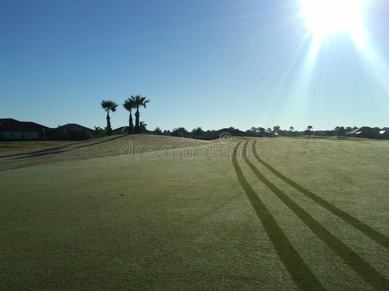 The beauty of morning golf royalty free stock photos
