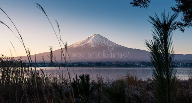 Beauty of the Mt Fuji from the lake Kawaguchi view stock photography