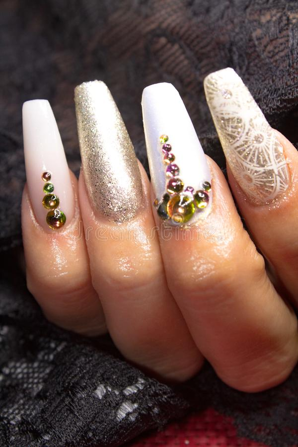 Beauty nails royalty free stock images