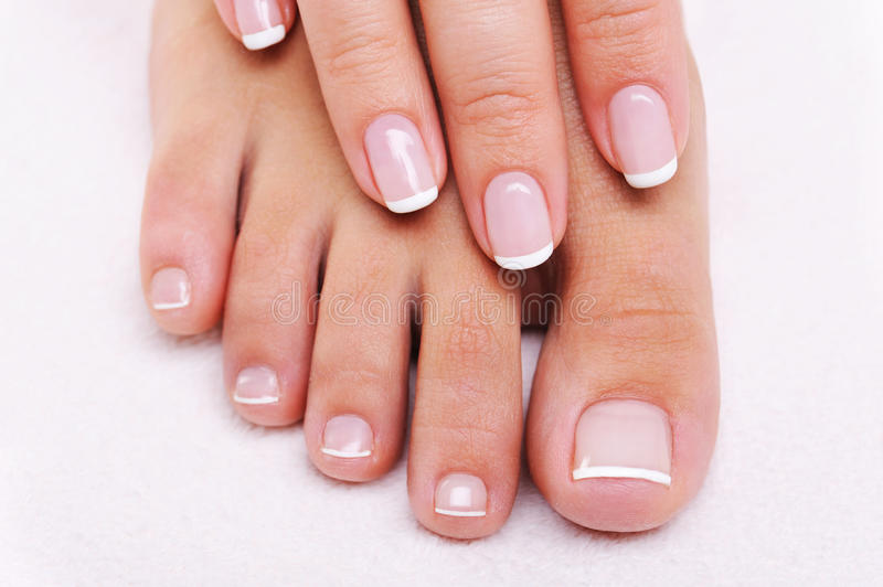 Download Beauty Nails Of A Female Hand And Feet Stock Image - Image: 13110857
