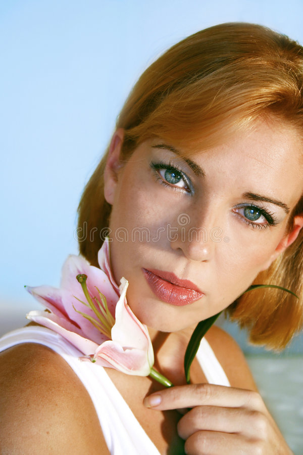 Beauty - natural look royalty free stock photography