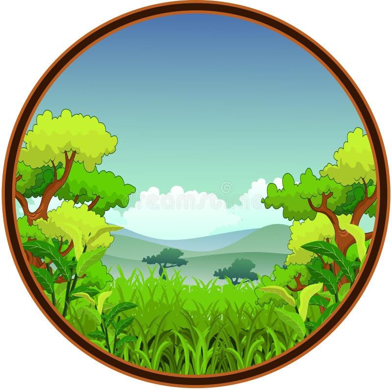 Download Beauty nature background stock illustration. Illustration of river - 34268958