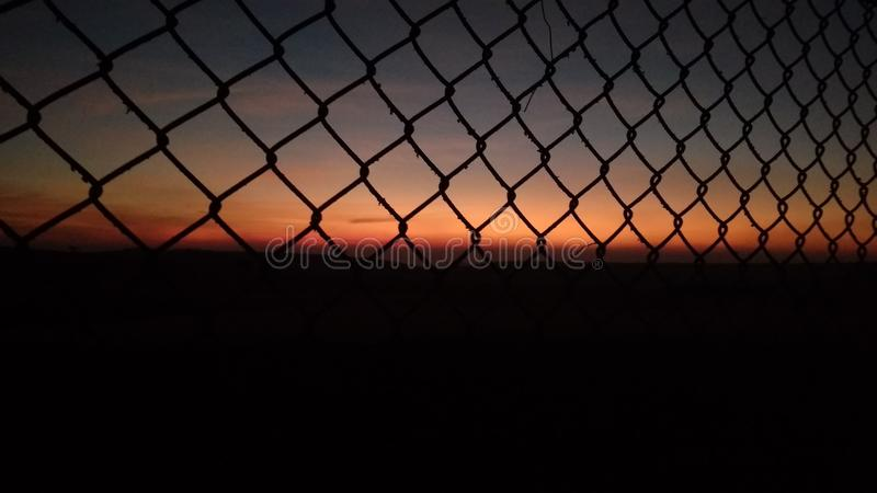 Fences. Beauty of nature caught from behind the fences royalty free stock image
