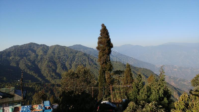 Beauty Nature of Darjeeling india. Tourist spot in Darjeeling India  with beautiful nature and sunset and wonderful weather royalty free stock photo