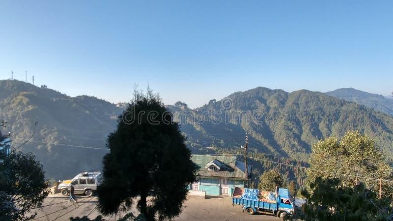 Beauty Nature of Darjeeling india. Tourist spot in Darjeeling India  with beautiful nature and sunset and wonderful weather stock photos