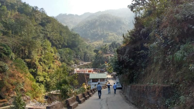 Beauty Nature of Darjeeling india. Tourist spot in Darjeeling India  with beautiful nature and sunset and wonderful weather stock images