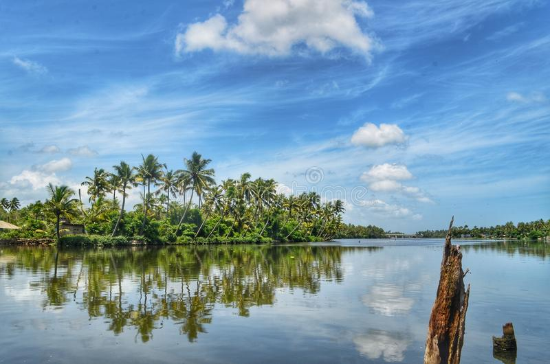 Beauty of Nature. Eravipuram is a Neighbourhood of the city of Kollam in Kerala, India. It is one among the 6 zones of the Kollam City stock photography