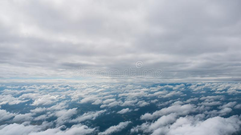 Beauty in nature sky and clouds look form plane. Beauty in nature sky and clouds form plane royalty free stock photos