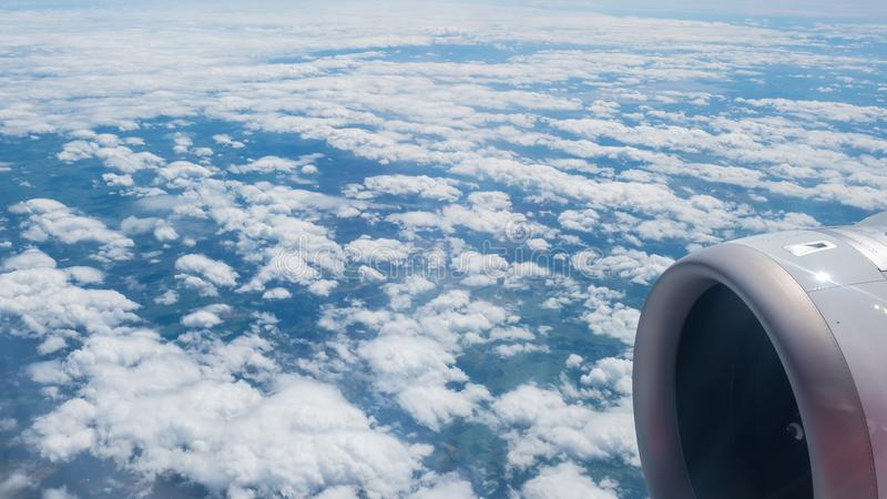 Beauty in nature sky and clouds look form plane. Beauty in nature sky and clouds form plane royalty free stock photography