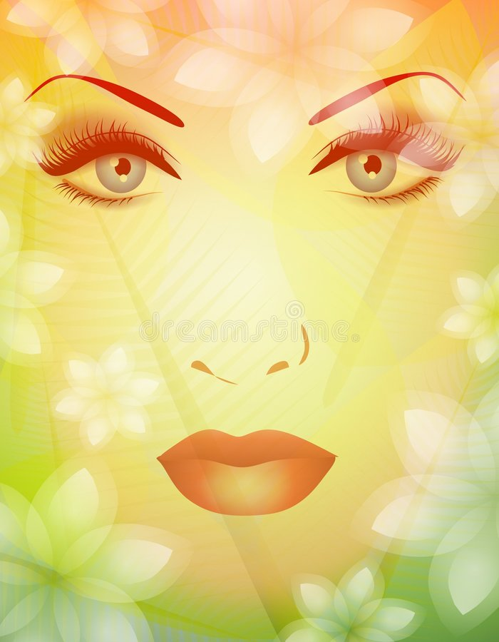 Beauty of Nature Spring Face 2 stock illustration