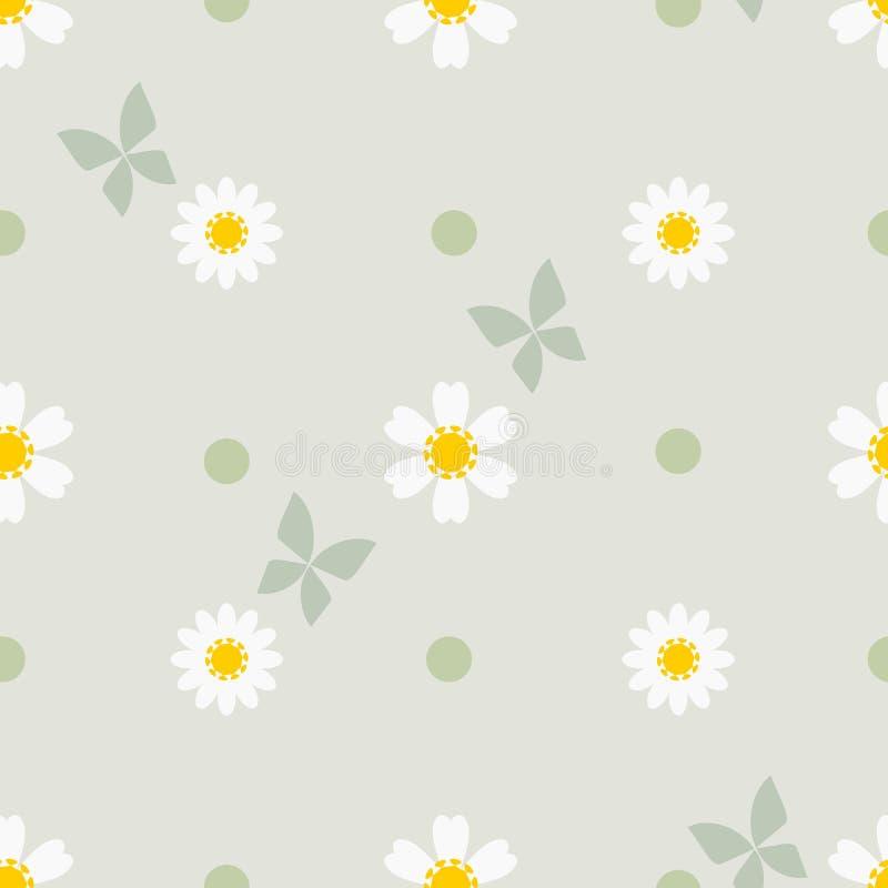 Beauty in nature, tiny daisy seamless pattern vector. vector illustration