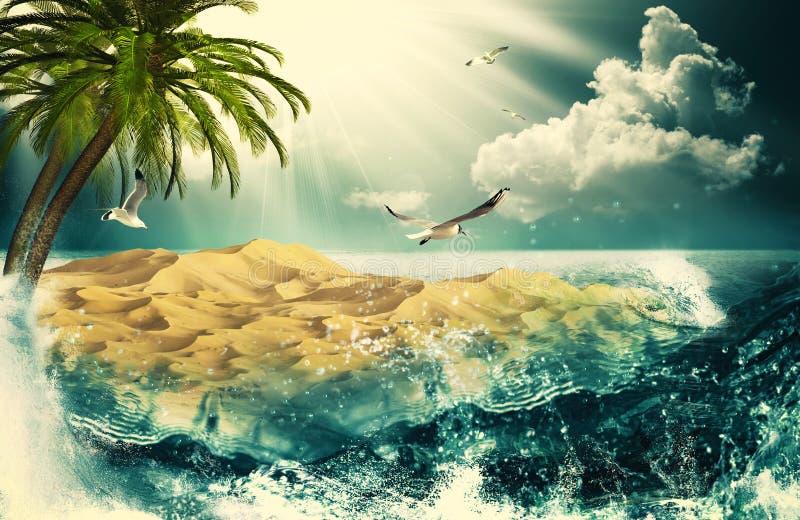 Beauty Ocean royalty free illustration