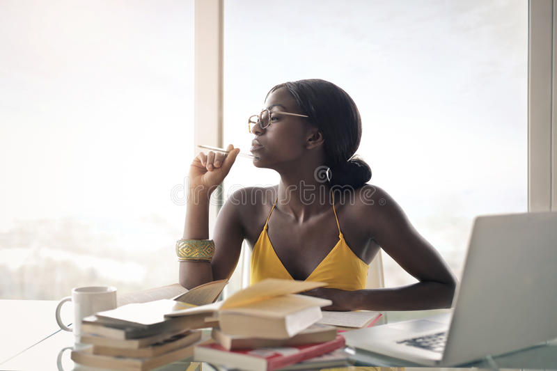 Beauty in the office royalty free stock photography