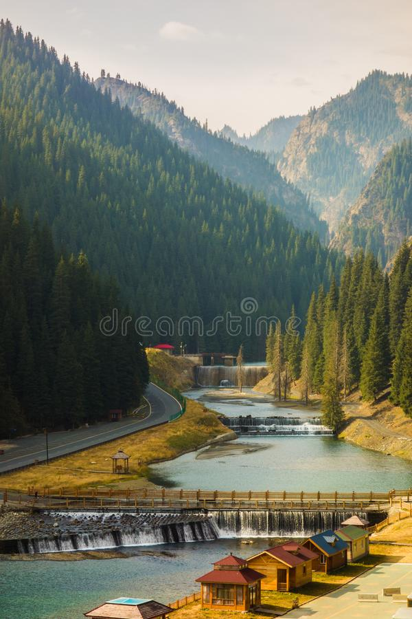 Stream, beauty, mountain, forest royalty free stock photo