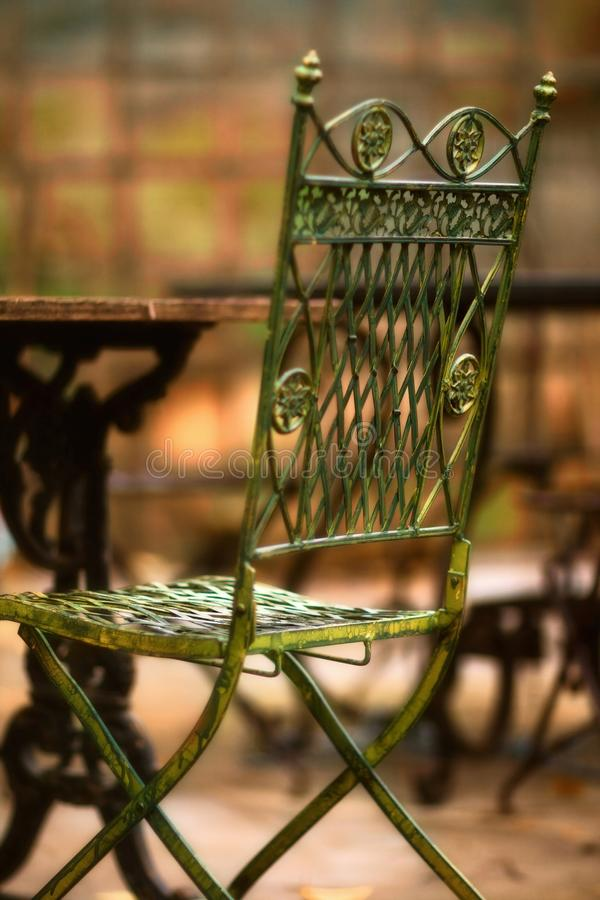 Beauty old chair - very soft focus stock images