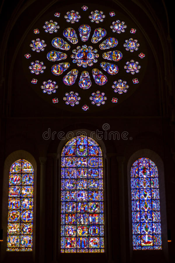 Free Beauty Old Stained-glass Windows In Cathedral Of O Stock Photos - 31935143
