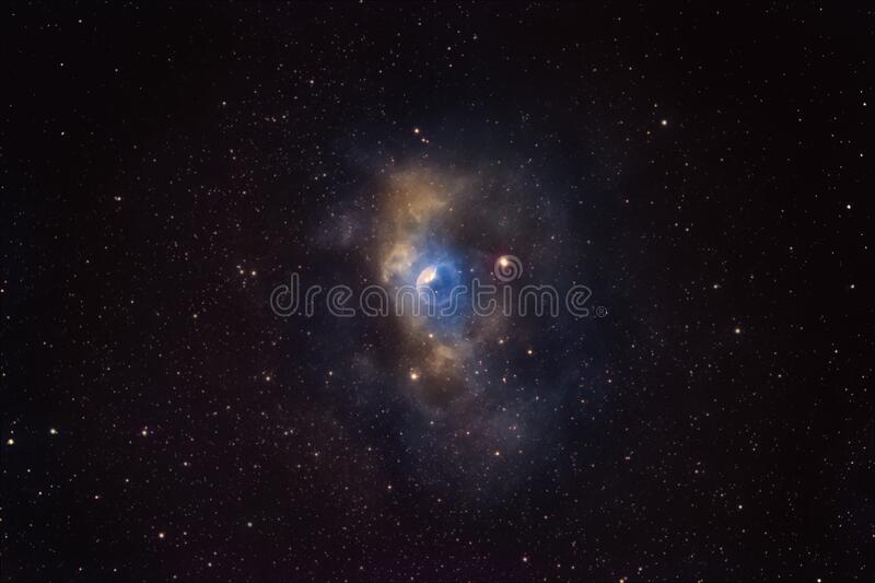 The beauty of our galaxy, Milky Way. NGC7635, the Bubble nebula in Cassiopeia stock photos